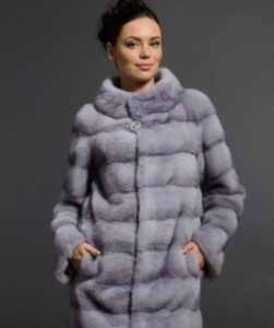 Such as in the photo, women's mink fur coats in fashion in 2017 are considered standard: ...