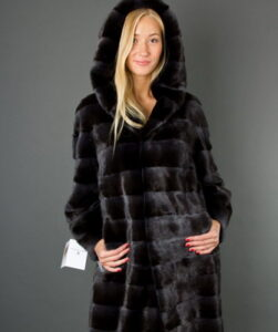 Please note how feminine the fashionable mink coat styles-2017 in these photos are: ...