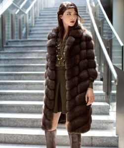 Pay attention to how stylish the mink fur coats are in 2017-2018 on these photos.
